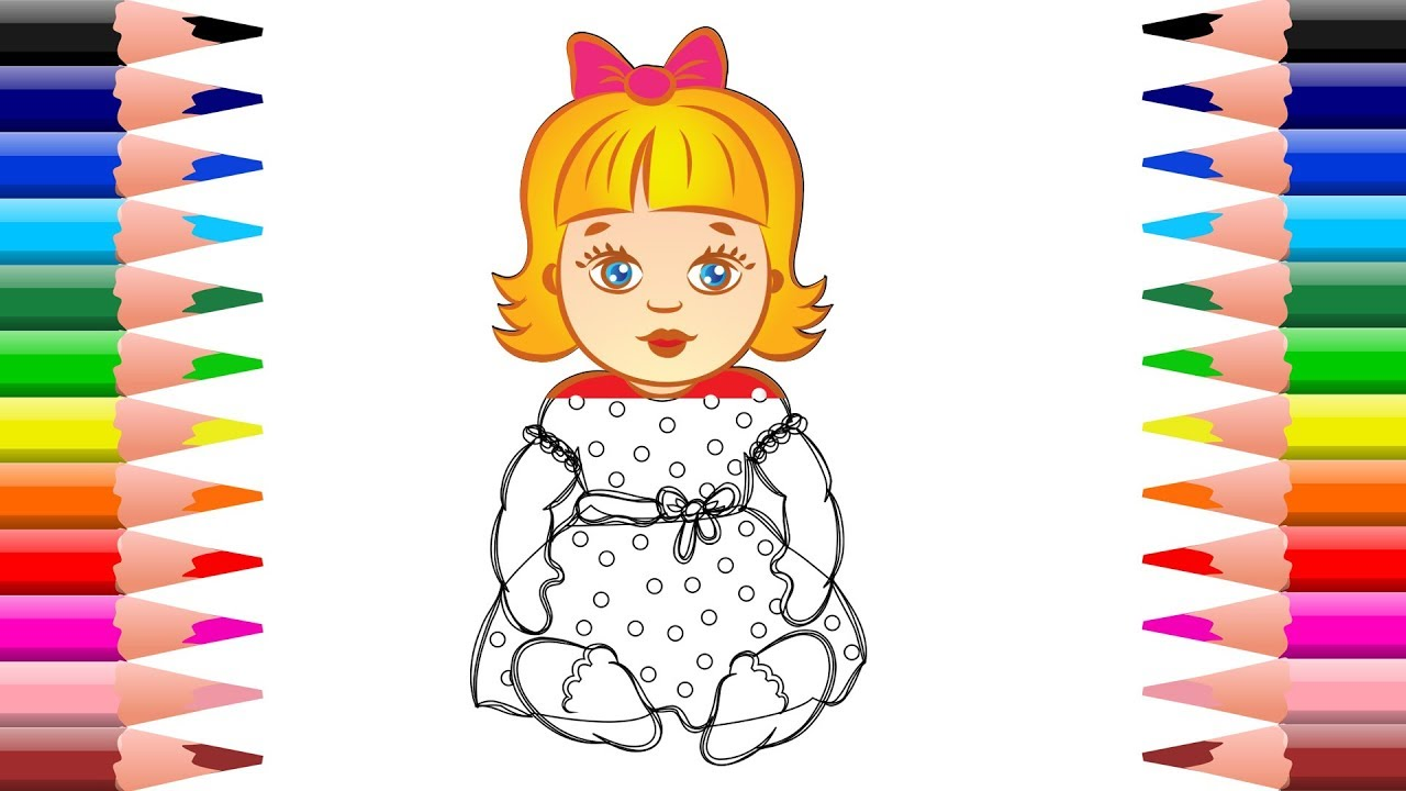 how to draw robot toys baby girl coloring pages kids learn drawing colors - Baby Girl Coloring Pages Kids