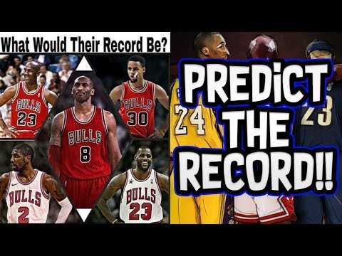 THE GREATEST SUPER TEAM EVER! MJ+KOBE+LEBRON+CURRY+KYRIE! PREDICT THE RECORD! NBA SIMULATION