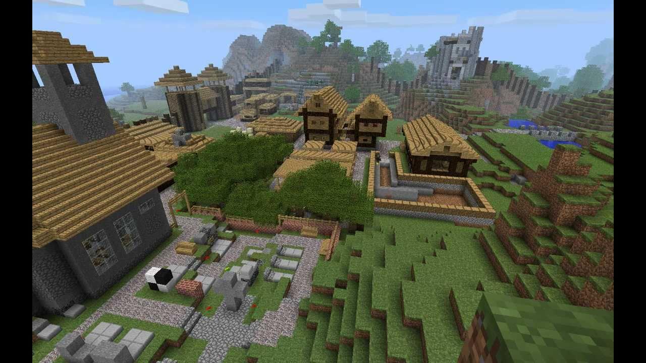 Minecraft Timelapse Medieval Village Youtube