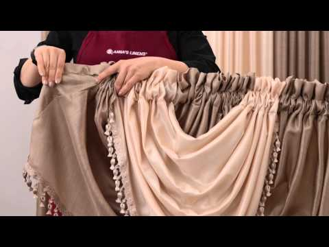 Anna's Linens - Annabella Waterfall Window Valance