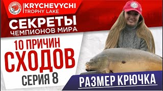 Серия 8 размер крючка УХОДИМ от СХОДОВ 10 способов избежать сходов на рыбалке на карпа