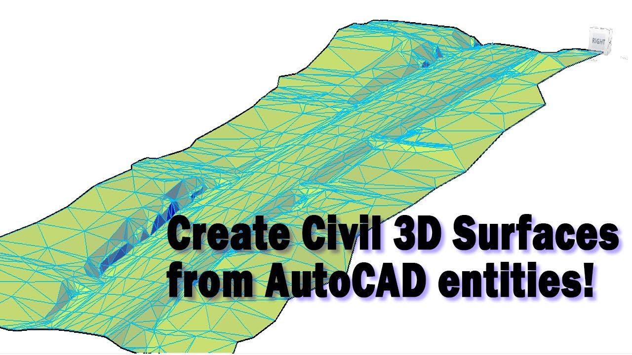 Creating Civil 3D Surfaces from Selected Drawing Objects