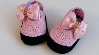 Veja Como Fazer Sapatinho de Crochê Para Bebê