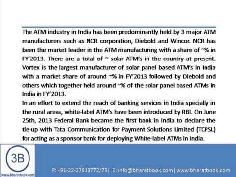 Bharat Book Presents : India ATM Industry Outlook to 2018
