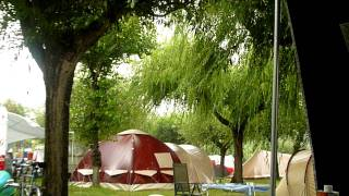 regen op camping Blu meer van Bolsena