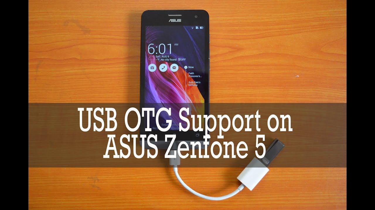 USB OTG Check On Asus Zenfone 5