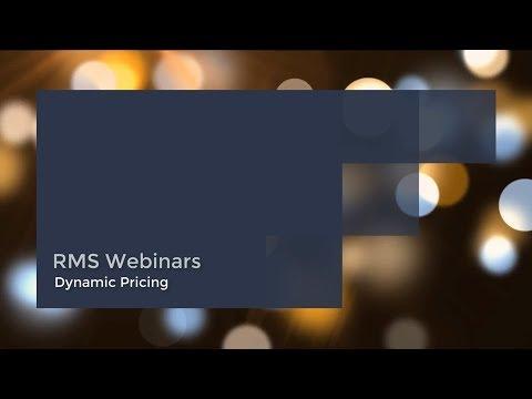 RMS - Dynamic Pricing Webinar