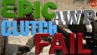 CS:GO - Epic 1v5 AWP Clutch Fail