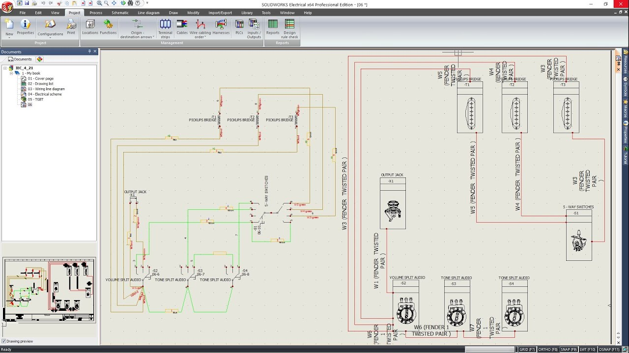 solidworks electrical how to create schematic part 2 3 youtube rh youtube com Home Wiring Diagrams AutoCAD Wiring Diagrams
