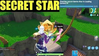 Fortnite season 8 week 1 battle star find the secret battle star in loading screen #1