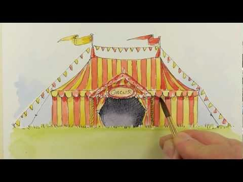 how to paint a circus tent & how to paint a circus tent - YouTube