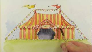 how to paint a circus tent