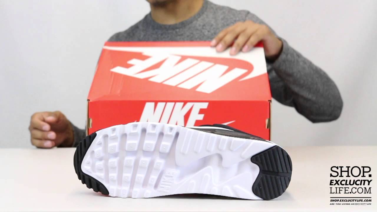 Nike Air Max 90 Ultra Plush Black White Unboxing Video at Exclucity