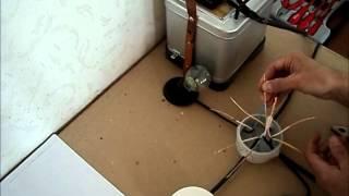 Соединение проводов в распредкоробке(Основные способы соединения проводов в распредкоробке + наглядный пример расключения со сваркой скруткок..., 2012-04-03T21:29:22.000Z)