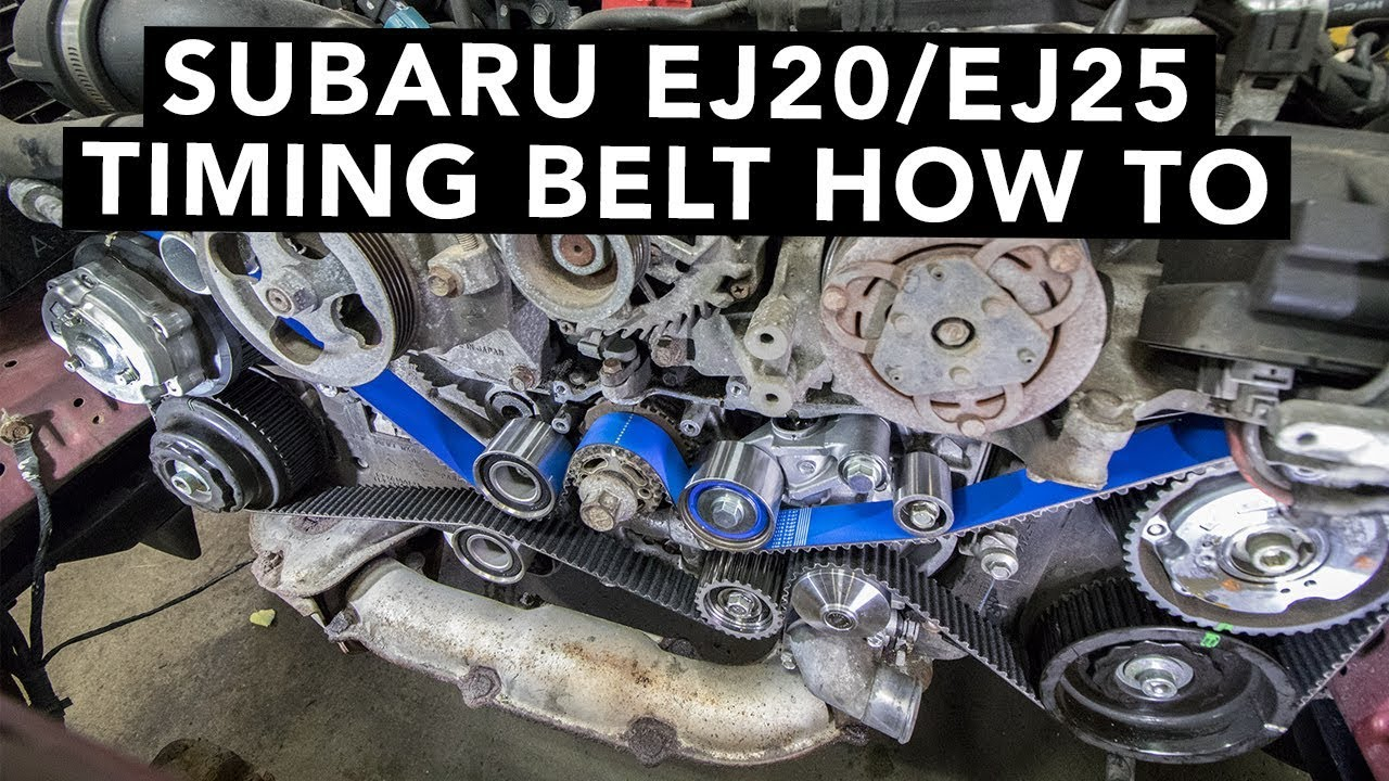 how to change a subaru dohc ej20 ej25 timing belt [ 1280 x 720 Pixel ]