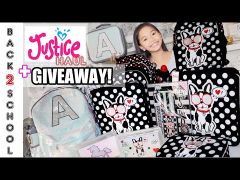 JUSTICE BACK TO SCHOOL SUPPLY HAUL! + 🦄GIVEAWAY!