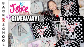JUSTICE BACK TO SCHOOL SUPPLY HAUL! + 🦄GIVEAWAY! ❌CLOSE❌