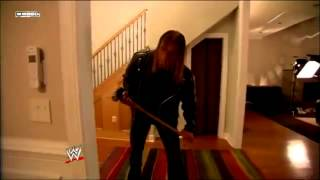 WWE Triple H attacks orton in his House