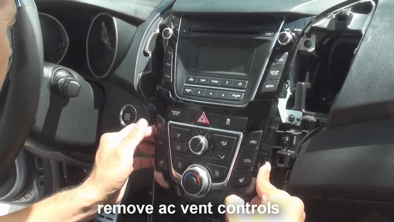 remove stereo Hyundai Elantra 20112013  YouTube