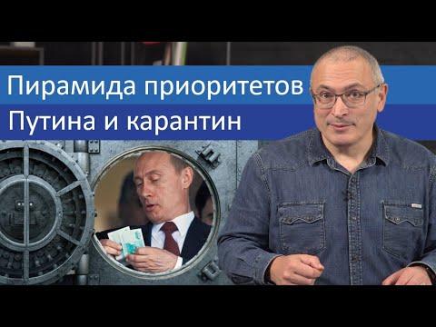 Пирамида приоритетов Путина и карантин | Блог Ходорковского - Видео онлайн