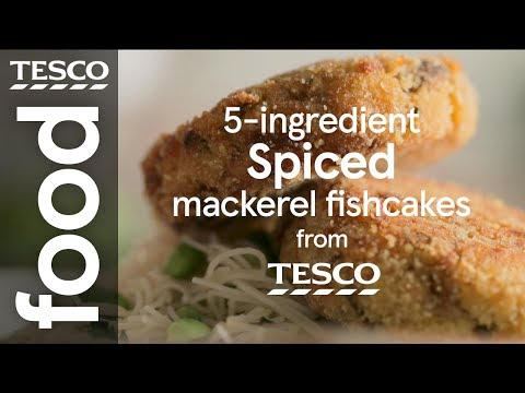 5-ingredient Spiced Mackerel Fishcakes | Tesco Food