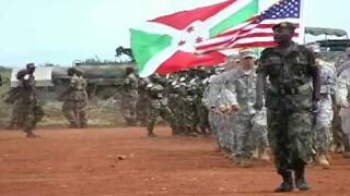 US and African Troops Marching - Uganda, Africa - Drill and Ceremony - B-roll