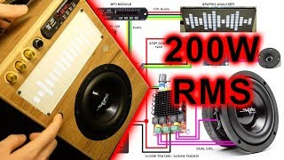 DIY how to build Ultra - Boombox with 200W RMS