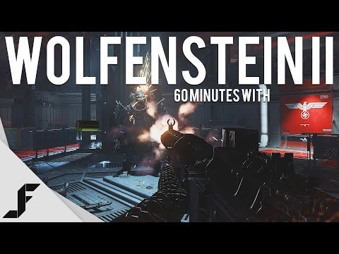 WOLFENSTEIN II THE NEW COLOSSUS 4K 60FPS - 60 Minutes with