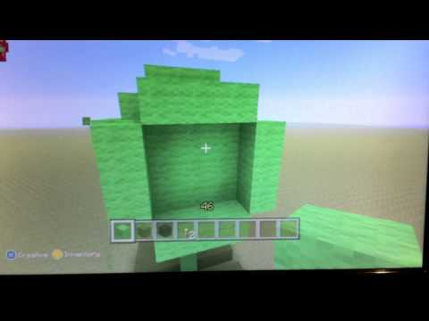 how to make a peashooter in minecraft