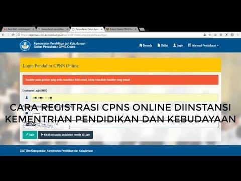 Cara Daftar CPNS 2017 Online Diinstansi Kemendikbud, susah login , akhirnya bisa juga registrasi