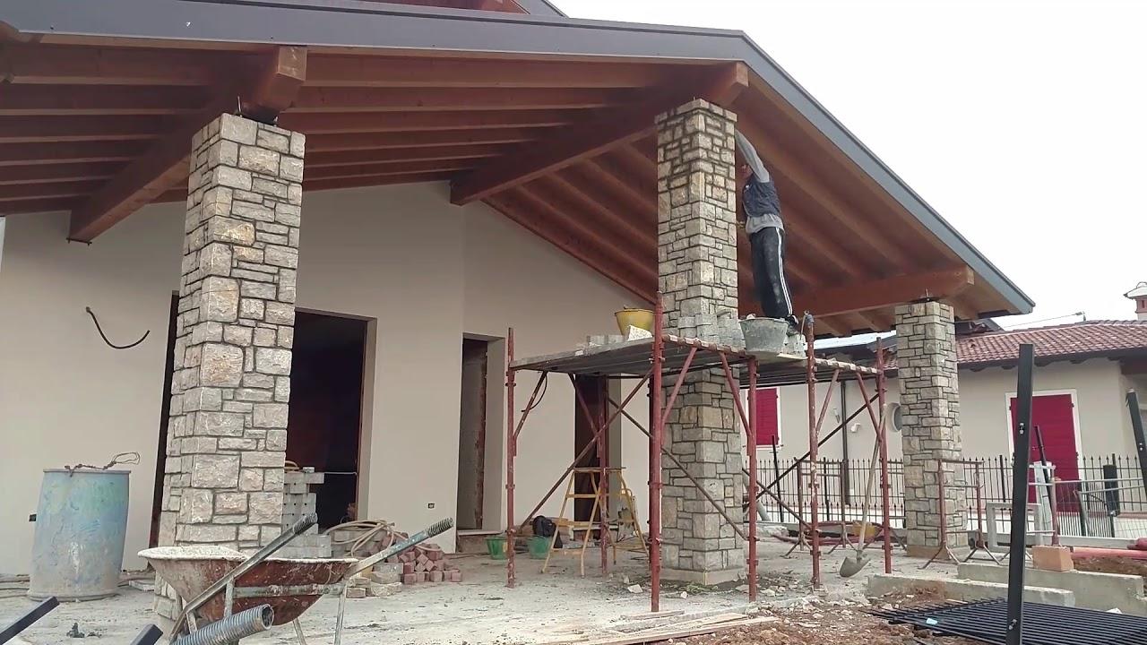 Pilastri in pietra di credaro artigianipietracredaro youtube for Foto di portici in pietra