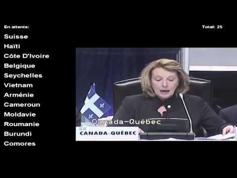 31e session de la conférence ministérielle de la Francophonie : discours de Christine St-Pierre