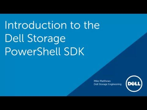Introduction to the Dell Storage PowerShell SDK
