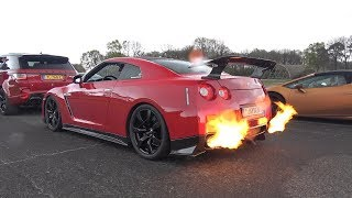 750HP Nissan GT-R R35 SPITTING HUGE FLAMES!