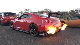 750HP Nissan GT-R R35 SPITTING HUGE FLAMES!