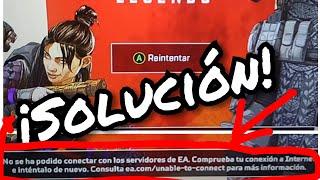 """¡Solucion! """"no se ha podido conectar con los servidores de EA"""" !De Apex Legends! (Xbox, ps4 y pc!)"""