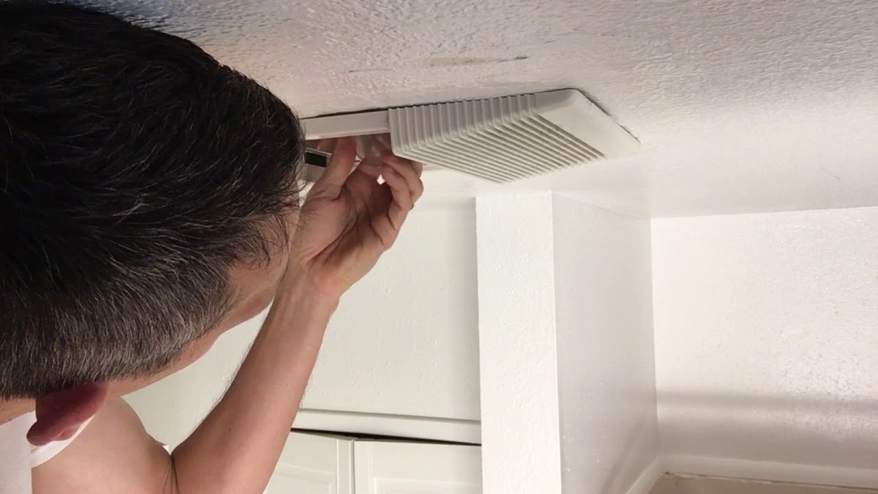 How to Remove Bathroom Exhaust Fan Cover - YouTube