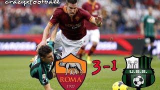 Roma vs Sassuolo 3-1 HD Highlights 19/03/2017