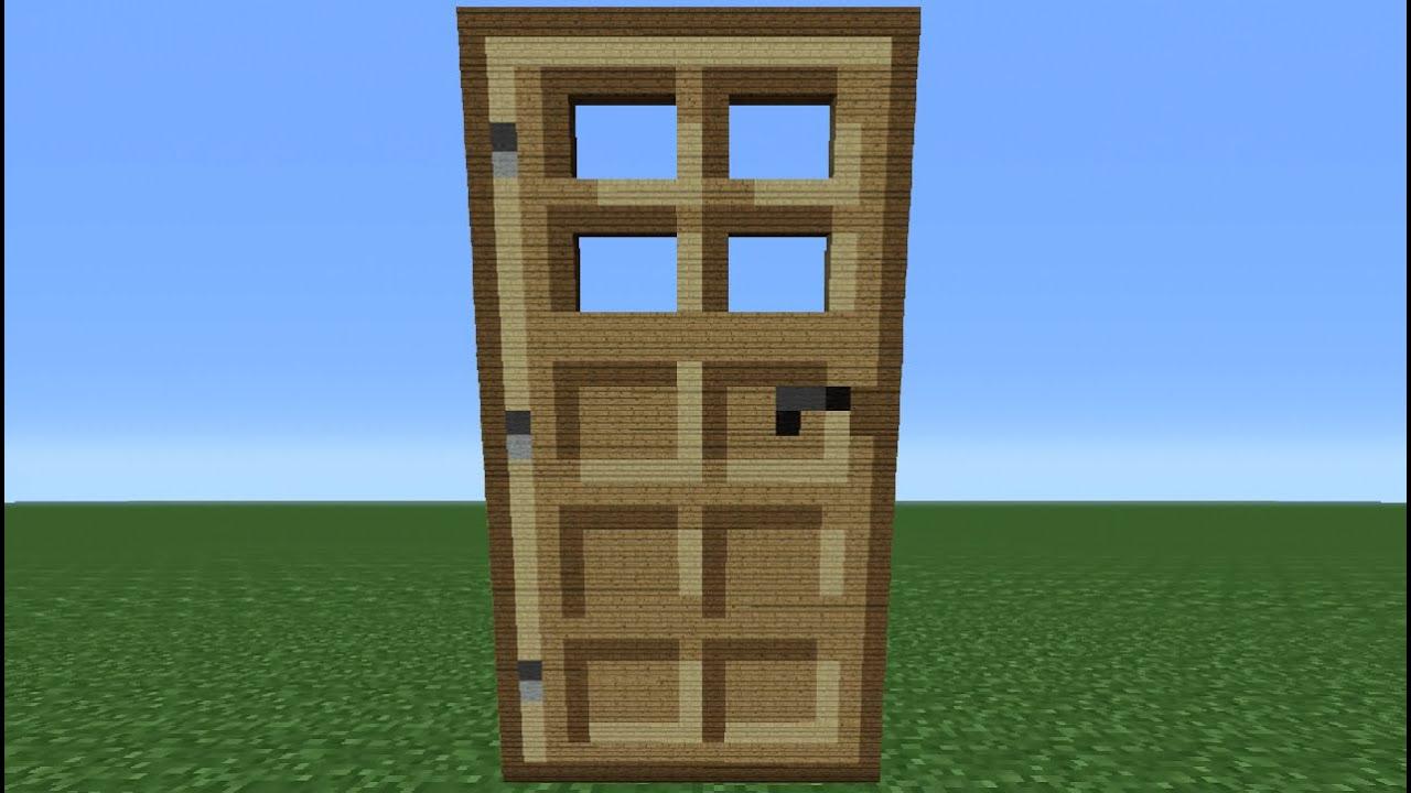 Minecraft Tutorial: How To Make A Wooden Door