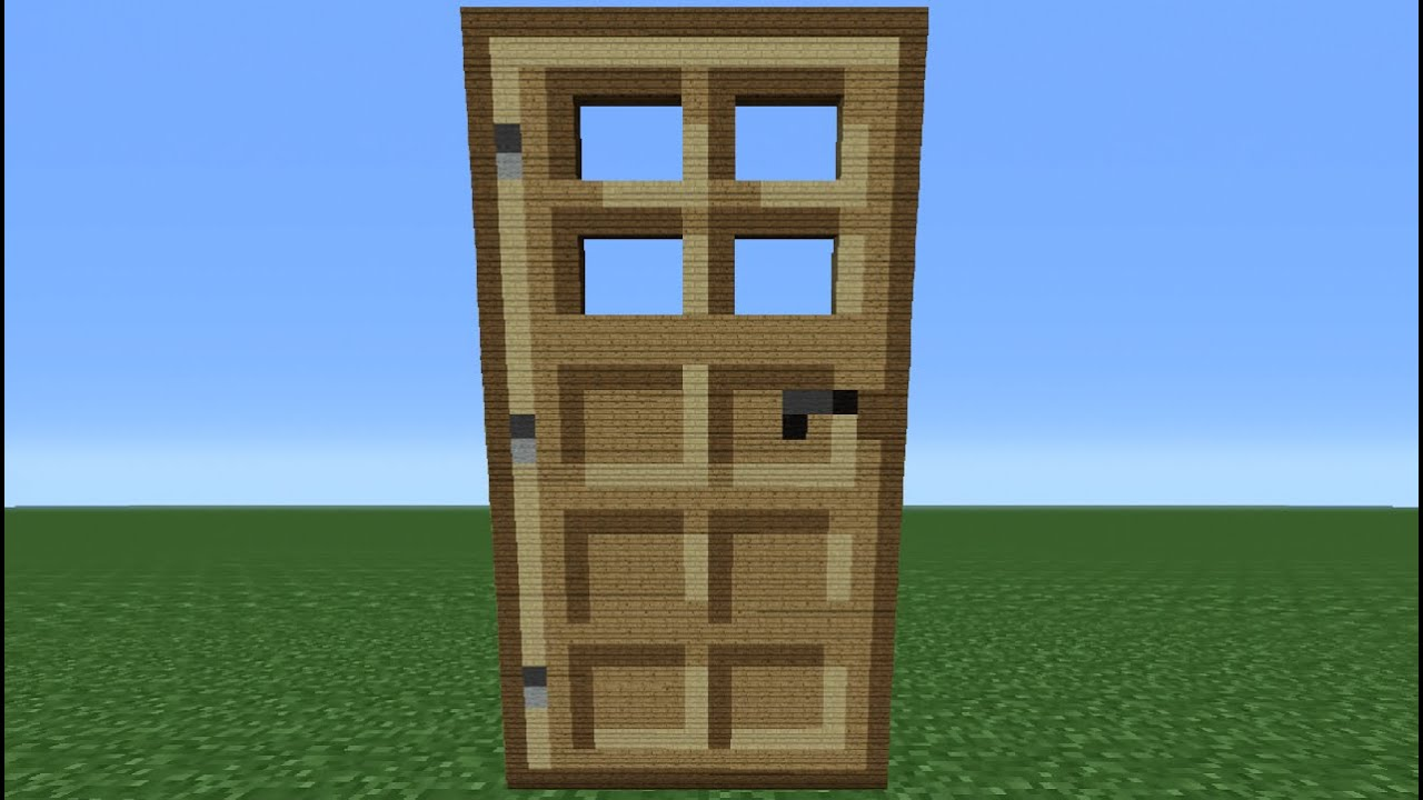 Minecraft Tutorial: How To Make A Wooden Door - YouTube