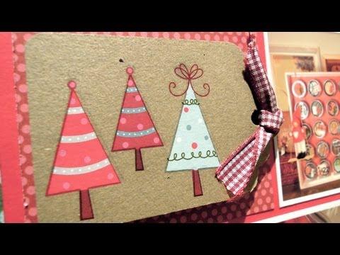 DN3: Cómo hacer una página de scrapbook. Edición de Navidad - YouTube