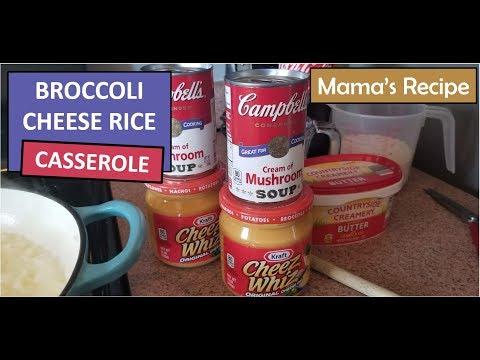 Broccoli Cheese Rice Casserole | Delicious Side Dish!