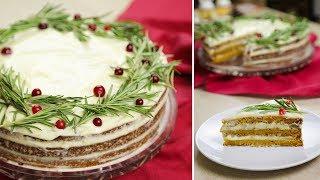 Морковный торт .Бесподобный и простой рецепт. Торт на Новогодний Стол