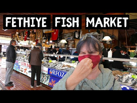 FETHIYE | Famous TURKISH Fish Market | Turkey Travel series.