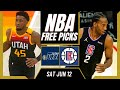 Free NBA Picks Today | Jazz vs Clippers (6/12/21) NBA Best Bets and NBA Predictions