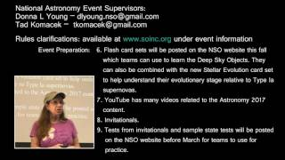 The 2017 National Science Olympiad Astronomy Event - Part 8