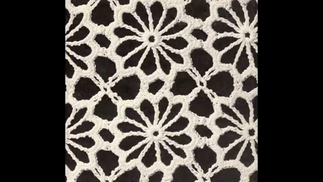 Como Tejer Camino de Mesa Lucecitas a Crochet - YouTube