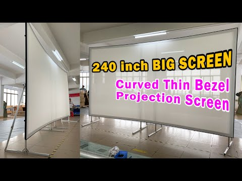 XYSCREEN Sound Max 8K Curved Thin Bezel Projector Screen With 8K Woven AT Material
