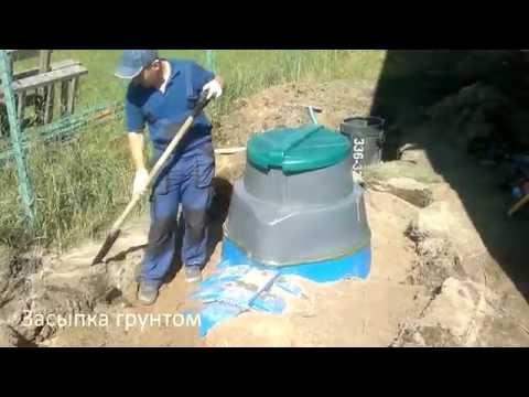 Монтаж септика для загородного дома «Загородный», июнь 2016