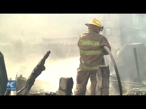 RAW:   14,000 liters of diesel and gas exploded in southeastern Mexico
